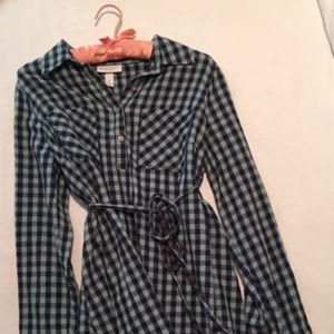 Liz Lange Target Maternity Collared Plaid Shirt